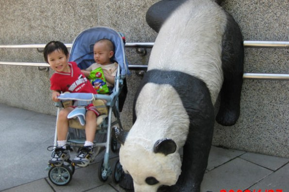 父子三人台北半日遊