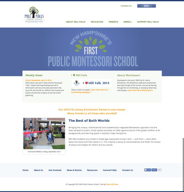 Mill Falls Charter School   bringing Montessori public