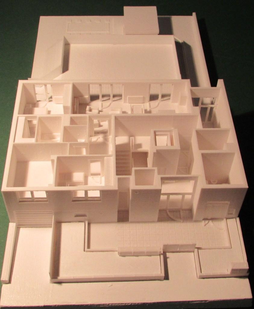 3D-gedrucktes Modell zur Darstellung der Niveauunterschiede im EG