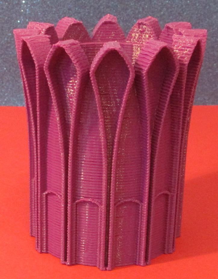 3D-gedruckte Design-Vase