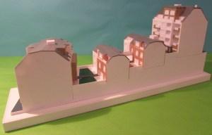 """3D-gedrucktes Modell des Projektes """"1140 Wien - Wohnen am Baumgartner-Casino-Park"""" der Firma Seeste"""