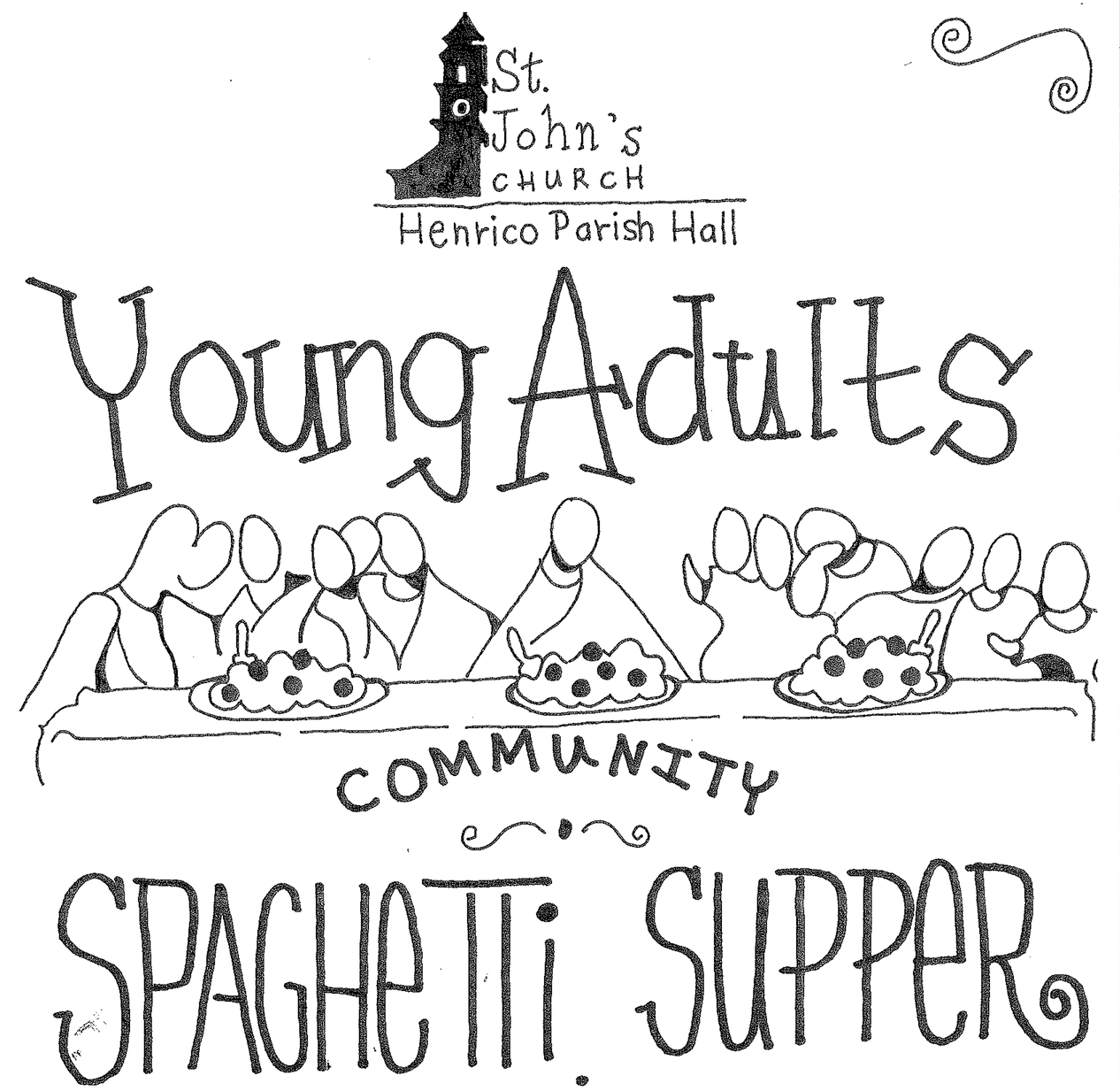 All are invited to Community Spaghetti Dinner at St.John's