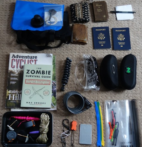 Miscellaneous items laid out