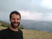 Mt. Darby ridgeline, , just as rain/hail storm began