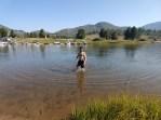 Morning swim at Steamboat Lake