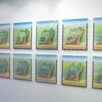 Les douze portes de la ville sont représentées par des réalités terrestres: «Se laver, manger… J'y peins douze gestes du quotidien. Le paradis est représenté dans un rapport au présent.» © Carole Parodi