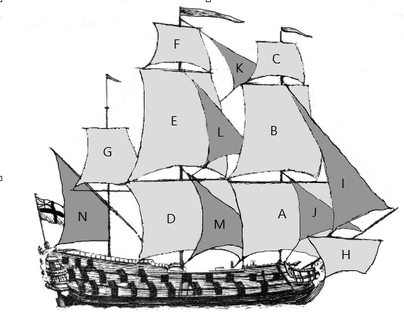 Falconer Ship Indexed Sails