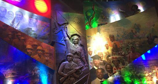 Large display in Windhoek's Independence Memorial Museum