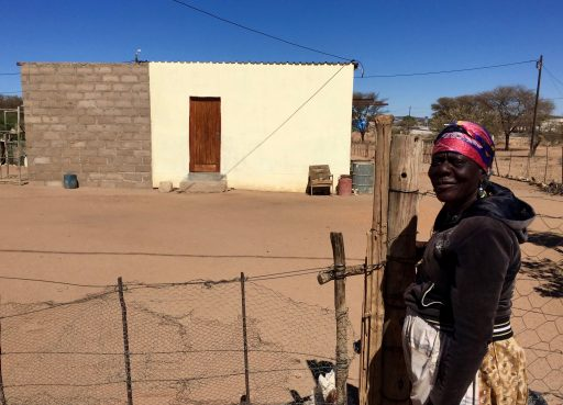 This grandmother proudly shows off her home, including the new expansion in process. She made every brick and assembled it entirely on her own. With running water, sewer and electricity, the grandkids who live with her have a greater chance for health and wellbeing than she did at their age.