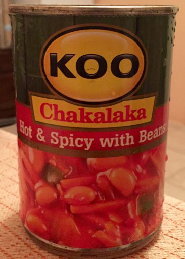 Can't afford to eat out much, though, so I rely on local fare like South African Chakalaka.