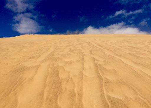 Approaching the top, the constant wind continues to shape and form the dune.