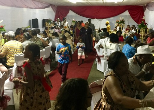 The wedding reception included the entire village and a lot of visitors from around the country.