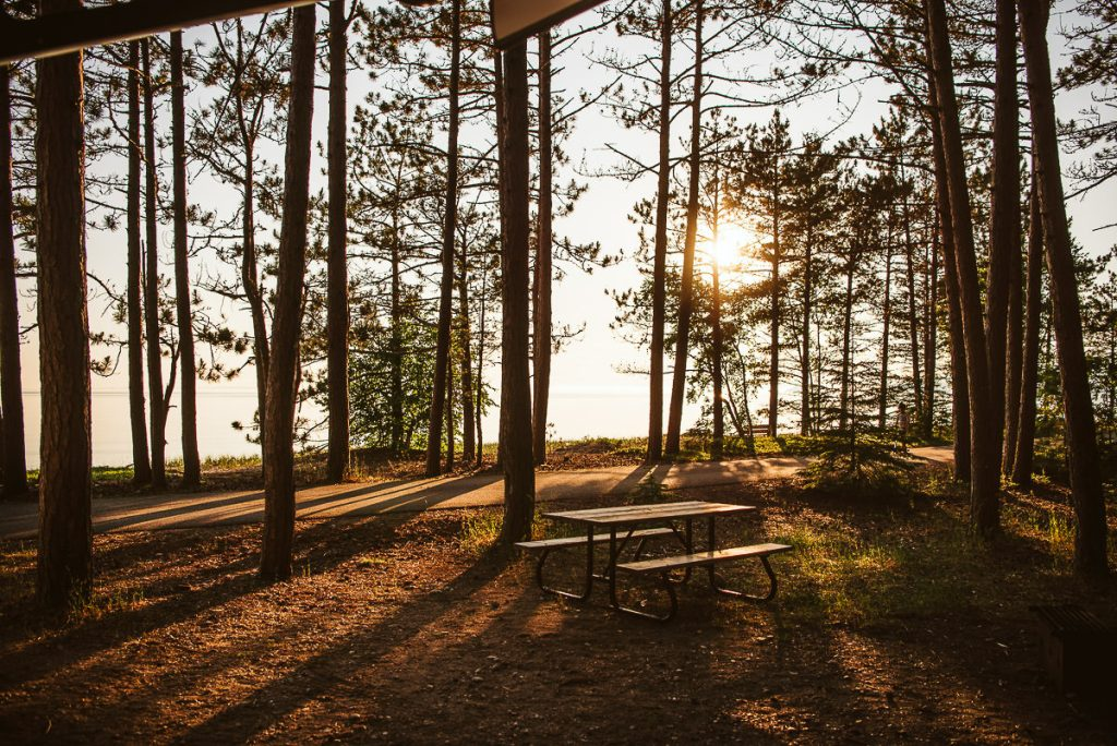 Camping in Agawa Bay Campground in Lake Superior Provincial