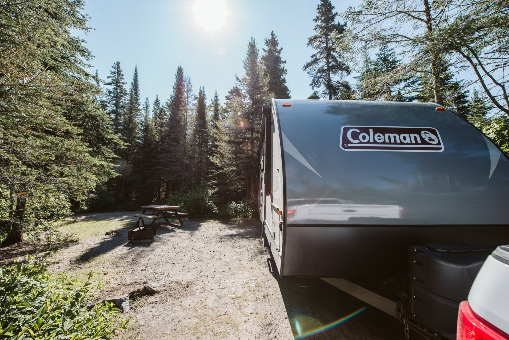Camping at Pukaskwa National Park in Northern Ontario with a Coleman Travel Trailer RV
