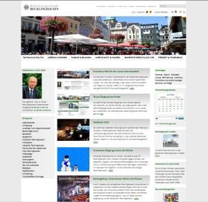 Neuer Internetauftritt der Stadt Recklinghausen