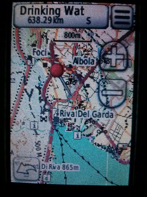 GARMIN Dakota 20 - Ausschnitt von Riva delGarda
