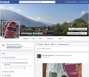 Demonstartion: Banner-und Profilbildkombi in Facebook