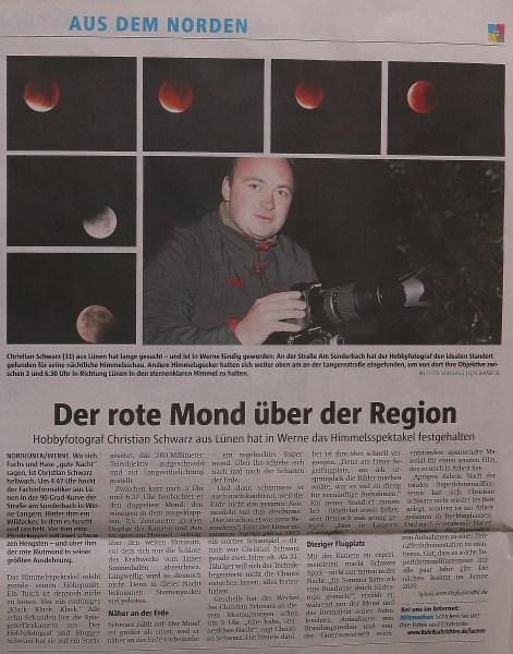 Ruhr Nachrichten (Lokalteil Lünen), 29.09.2015