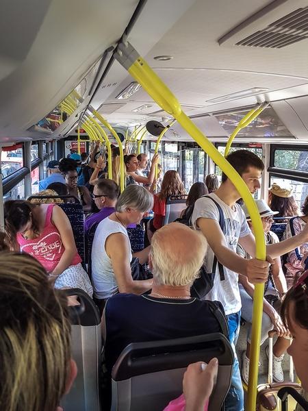 Bus zur Altstadt von Dubrovnik