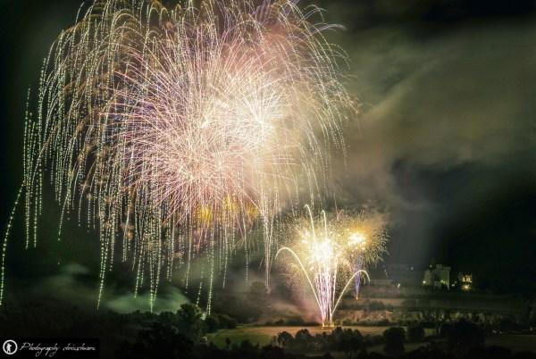 Feuerwerk fotografieren - Feuerwerk bei der Internationalen Warsteiner Mongolfiade