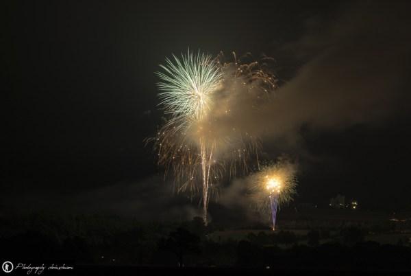 Feuerwerk mit Rauch