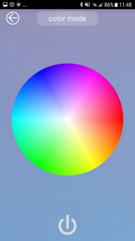 Farbeneinstellung via YN360-App