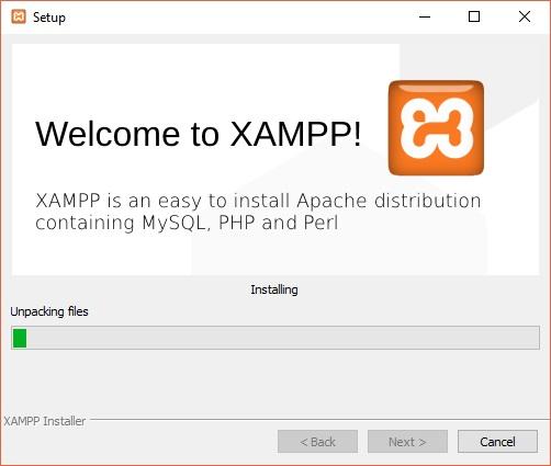 XAMPP wird nun installiert