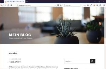 Mit der WordPress-Installation einen eigenen Internetauftritt erstellen