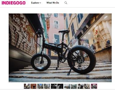 Mate X Bike (Quelle: Screenshot von Indiegogo.com)