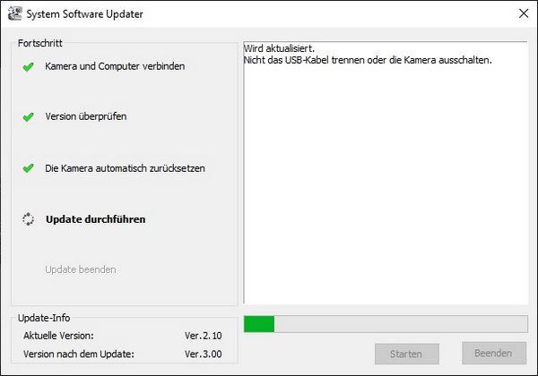 Update-Prozess der Systemsoftware (Firmware)