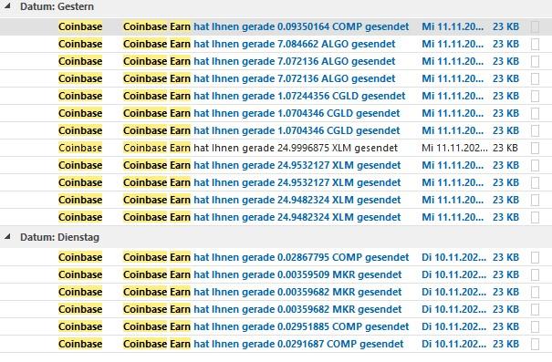 E-Mails von Coinbase