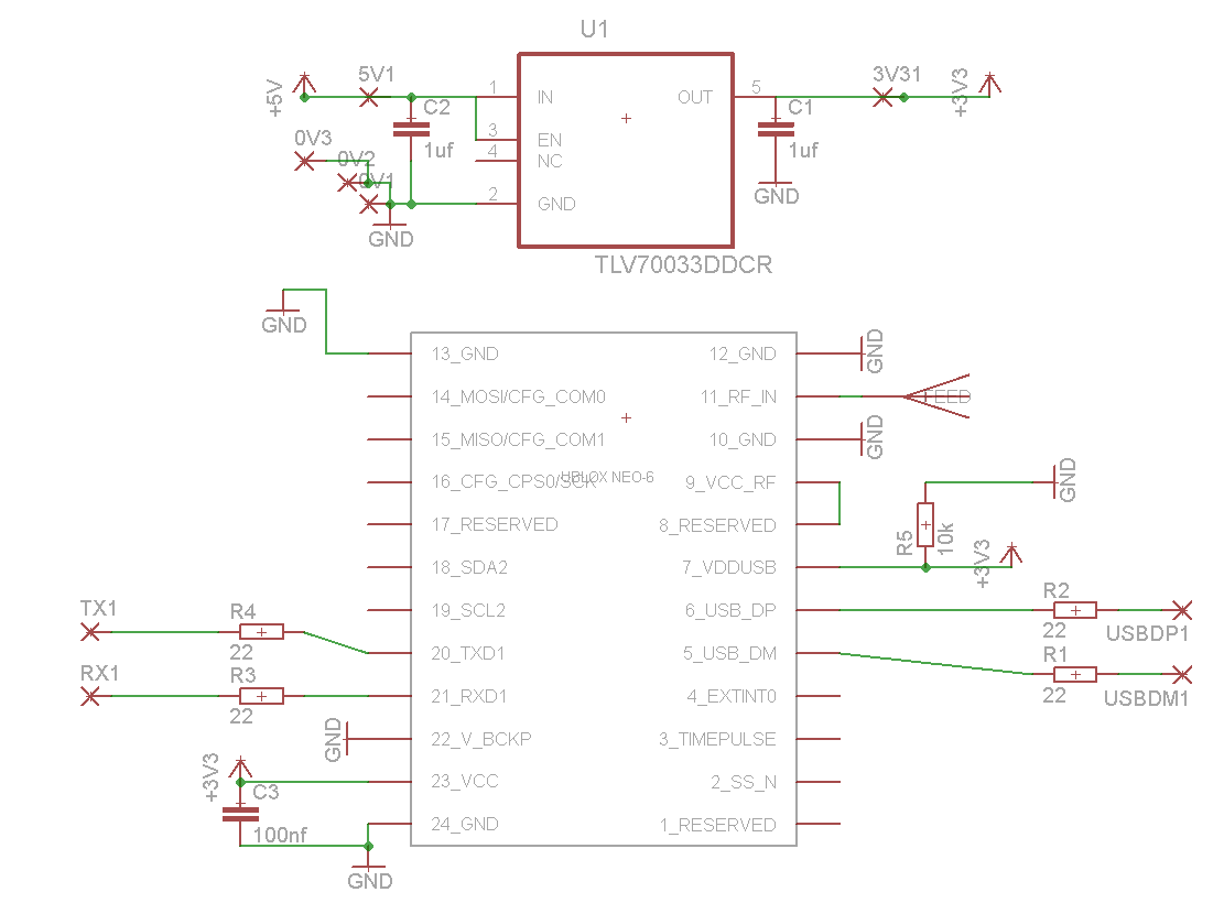 simple am receiver circuit diagram 1970 mobile home wiring ublox neo 6 gps module usb connection | chris stubbs