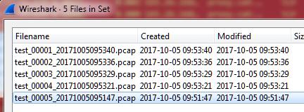 WS File Set Window