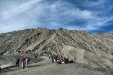 ladder to the rim of bromo crater