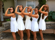 Emily and Delta Gamma Sorority Sisters