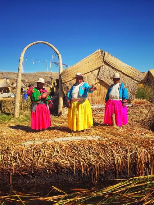 Wyspy trzcinowe na Jeziorze Titicaca