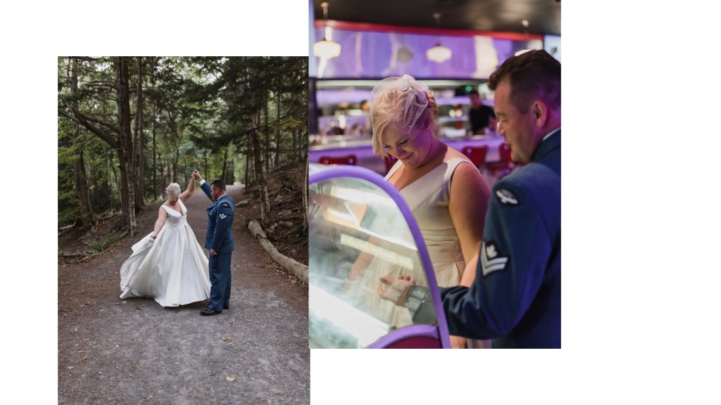 bride and groom eloping in Nova Scotia - hemlock ravine park