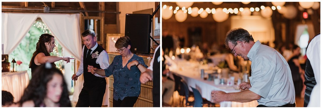 guests dancing at crystal cliffs wedding venue