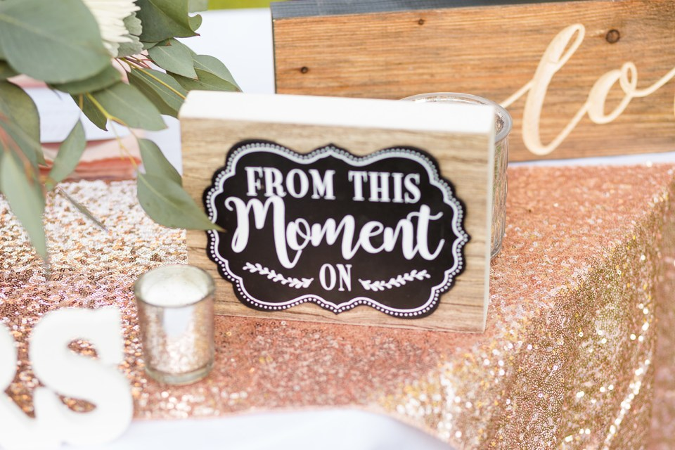 from this moment on wooden sign