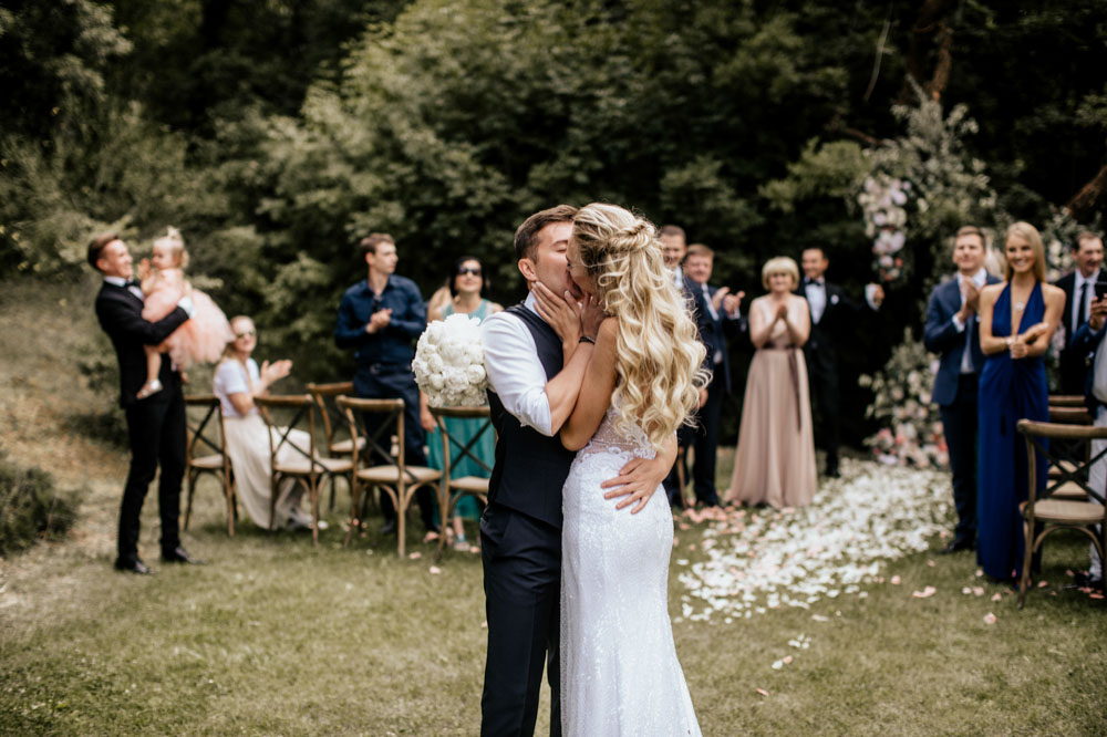 Toskana Hochzeit Fotograf  Villa Vignalunga