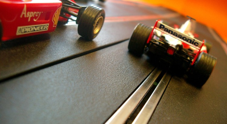 Picture of Formula One Scalextric cars