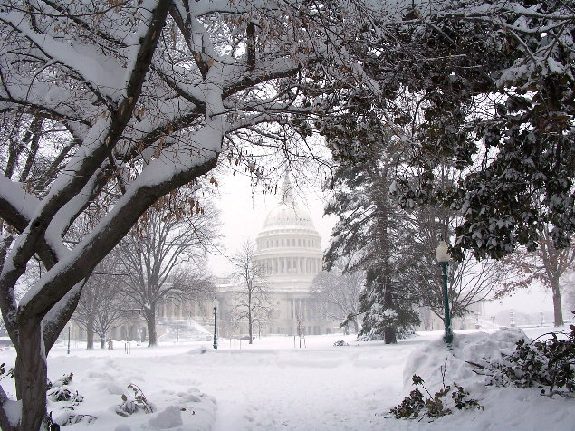 East side of U.S. Capitol, February 6, 2010
