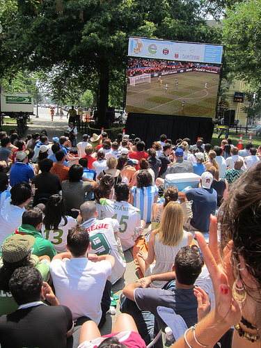 world cup games in dupont circle by cristinabe on flickr.com via a Creative Commons Attribution Licence