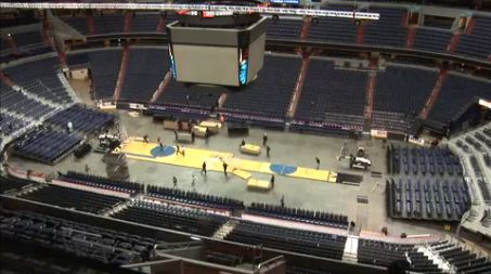 Screengrab of Ice to Hardwood change at Verizon Center