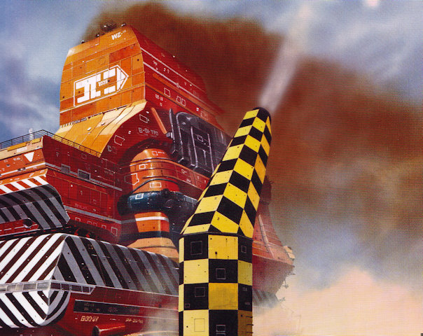 Detail of cover artwork for The Grain Kings, from Chris Foss, Hardware