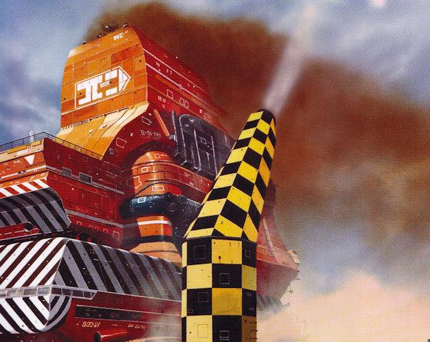Detail of cover artwork for The Grain Kings, from Chris Foss, Hardware