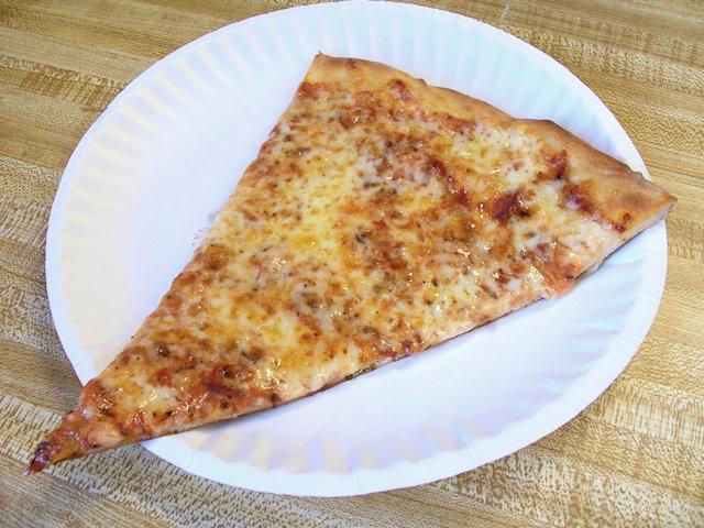 A slice of Mack's plain pizza, Wildwood, NJ
