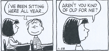 Lydia and Linus, January 28, 1987, from The Complete Peanuts: 1987 to 1988