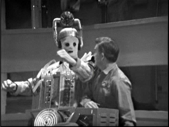 A Cyberman with General Cutler