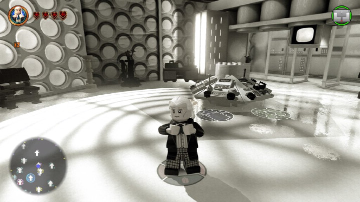 The First Doctor in the TARDIS in LEGO Dimensions
